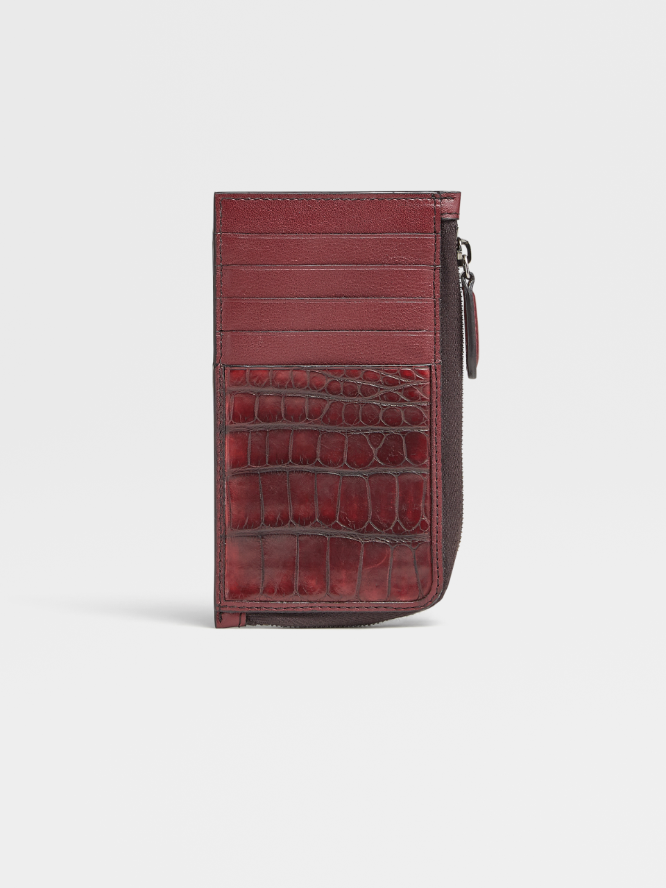 Calf And Alligator Zipper Card Case 10cc